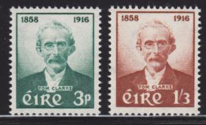 Ireland Sc 165-166 MNH. 1958 Thomas J. Clarke cplt F-VF