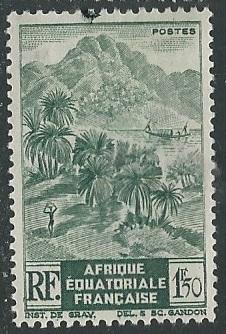 French Equatorial Africa  + Scott # 174 - MH
