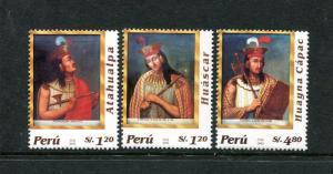 Peru 1386, MNH, Incan Emperors 2004. x29679