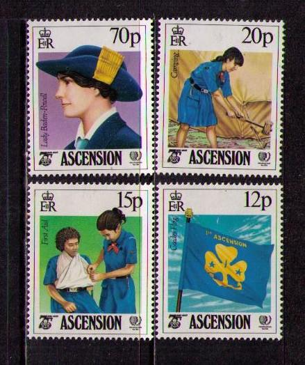 Ascension MNH 377-80 Gil Guides Camping SCV 4.00 1985