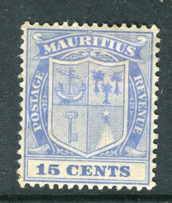 MAURITIUS; 1920s early issue Mint hinged 15c. value