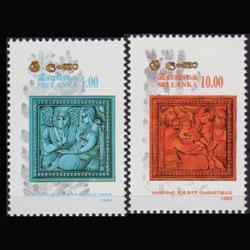 SRI LANKA 1991 - Scott# 1014-5 Christmas Set of 2 NH