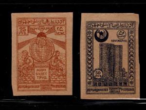 Azerbaijan Scott 19-20 MH* stamps 1919
