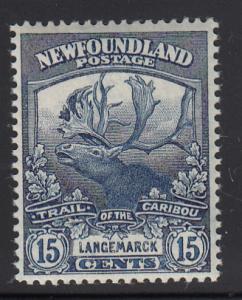 Newfoundland 1919 MNH Scott #124 15c Langemarck Trail of the Caribou