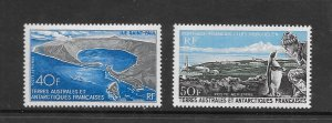 FRENCH SOUTHERN ANTARCTIC TERRITORIES #C13-14 PORT AUX FRANCAIS  MNH