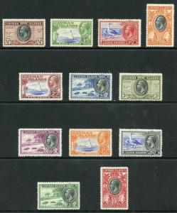 Cayman Islands SG96/107 Pictorial Set of 12 M/Mint