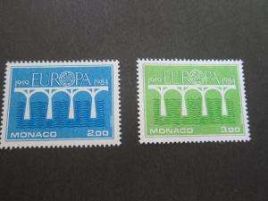Monaco 1984 Sc 1424-5 set MNH