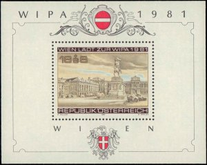 1981 Austria #B345, Complete Set, Never Hinged