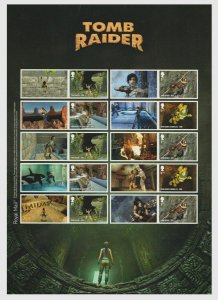 GB 2020 Tomb Raider smiler sheet UNMOUNTED MINT/MNH