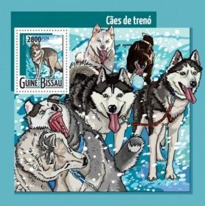 Z08 GB15413b GUINEA-BISSAU 2015 Sledge dogs MNH ** Postfrisch