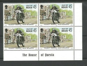 1996 Scouts Isle of Man cycling plate blocks