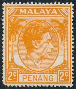 Malaya Penang 1949 2c Orange SG4 MH