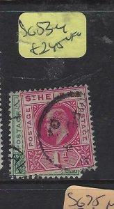 ST HELENA  (P0105B)  KE  1/2D, 1D  SG 53-4    VFU