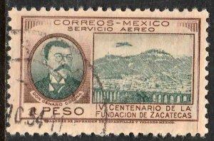 MEXICO C164, $1P 400th Anniversary of Zacatecas. Used. VF. (883)