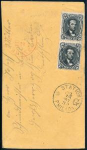 #77 PAIR ON COVER NEW YORK CV $475.00 HB347 BQ1928