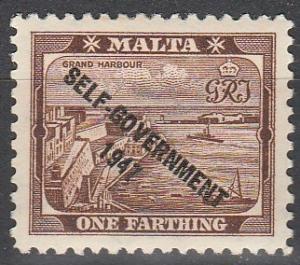 Malta #208 F-VF Unused  (V3006)