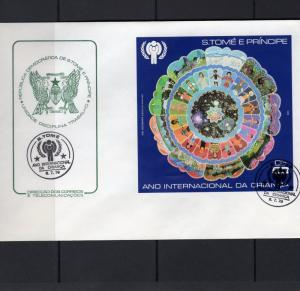 Sao Tome and Principe 1979 Sc#517 International Year of the Child (ICY) SS FDC