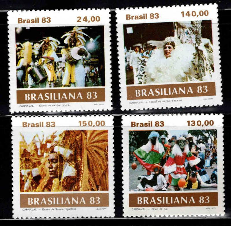 Brazil Scott  1841-1844 MNH** Carnival stamp set 1983