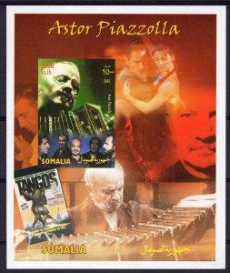 Somalia 2003 TANGO Astor Piazzolla-Tango Dancers S/S (1) IMPERFORATED MNH