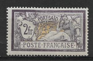 French Offices-Port Said 2fr Scott # 31,VF Mint previously Hinged*OG (FC-6)