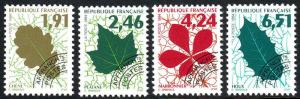 France 2438-2441, MNH. Leaves. Precanceled, 1994