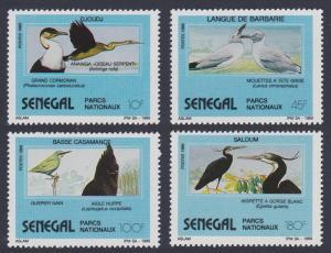 Senegal Eagle Cormorant Darter Heron Birds 4v 1989 MNH SG#1024-1027 CV£6.90