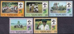 Vanuatu #337-41  MNH CV $3.55  (V4977)