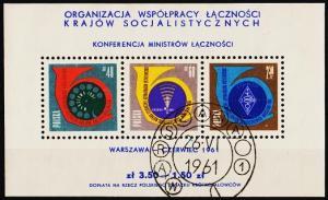 Poland. 1961 Miniature Sheet. S.G.MS1239a Fine Used