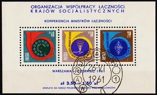 Poland. 1961 Miniature Sheet. S.G.MS1239a Fine Used