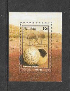 BIRDS - NAMIBIA #780 OSTRICH & EGG   MNH
