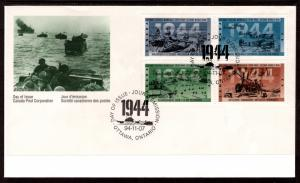 Canada 1540a Anniversary WWII Canada Post U/A FDC