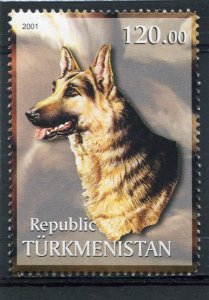 Turkmenistan 2001 DOG 1 value Perforated Mint (NH)