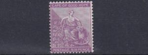 CAPE OF GOOD HOPE  1884 - 90    S G 52B    6D  BRIGHT MAUVE   MH