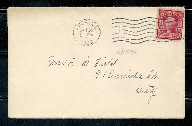 319i  2c. Franklin,  On cover, scv: $150