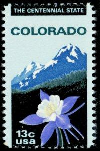 1711, Mint NH Misperfed Error 13¢ Colorado - Stuart Katz