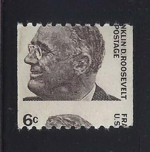 1298 - 6c Misperf Error / EFO COD Franklin D. Roosevelt FDR MNH