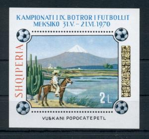 Footbal Soccer Mexico Art Paintings Albania MNH stamp sheet imperforated