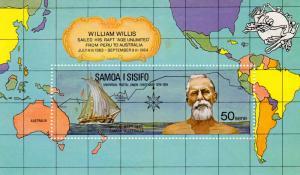 Samoa MNH S/S 406a William Willis & Raft 1964