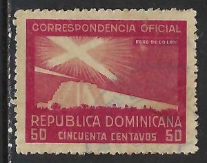 Dominican Republic O25 VFU COLUMBUS 315G-1