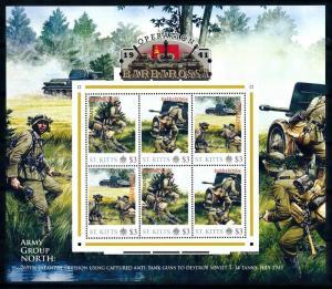 [91893] St. Kitts 2011 World War 2 Operation Barbarossa Sheet MNH