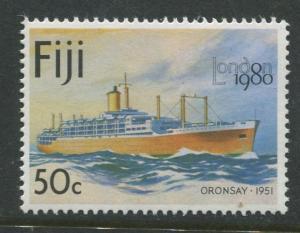 Fiji - Scott 429 - Ships Issue 1980- MNH -  Single 50c Stamp