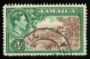 Jamaica, 1938-1952 King George VI, 4d (TS-321)