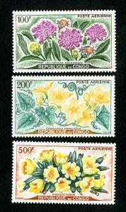 Congo Stamps # C2-4 VF OG LH Scott Value $22.15