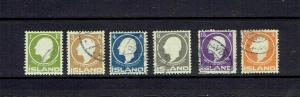 ICELAND - 1911 - JON SIGURISSON - SCOTT 86 TO 91 - USED