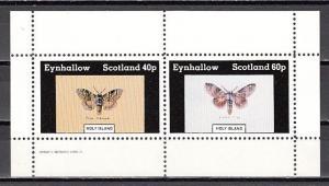 Eynhallow, 1982 issue. Moths sheet/2. E4