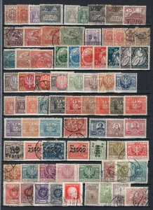 Poland Old Collection 269 Stamps Mint-Used With Better ECV$350 See Scans