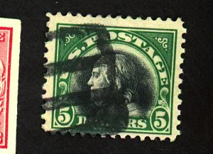 U.S. #524 Used F-VF Cat $30