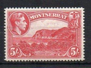 Montserrat 1942 5s perf 14 MH