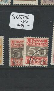 DANISH WEST INDIES  (P0806B) POSTAGE DUE SCJ7-8   VFU