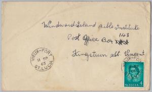 39823   -ST LUCIA -  POSTAL HISTORY - COVER  with nice postmark: VIEUX-FORT 1965
